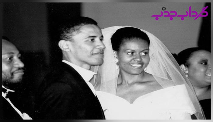 ازدواج میشل اوباما با باراک اوباما