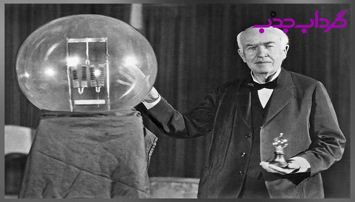 اختراع لامپ توسط توماس ادیسون